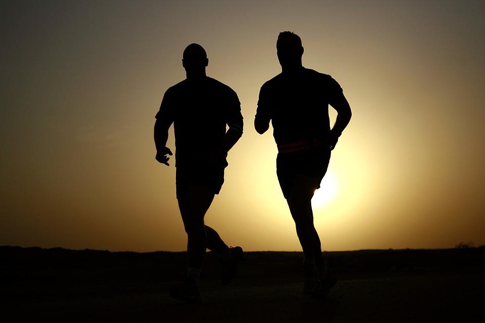 běhání večer