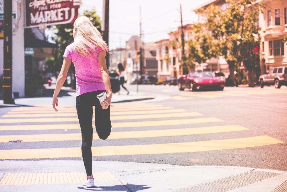 protahování běžce