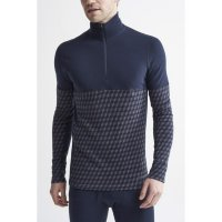 Triko CRAFT Merino 240 Zip LS Dark Blue