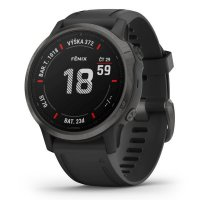 Garmin fenix6S Sapphire, Gray/Black Band (MAP/Music)