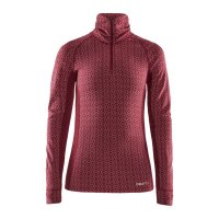 CRAFT Merino 240 Zip LS Red W