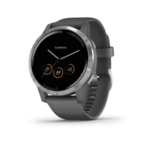 Garmin vívoactive4 Silver, Gray Band