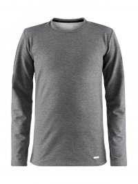 Craft Essential Warm  L/S Tee Junior Grey