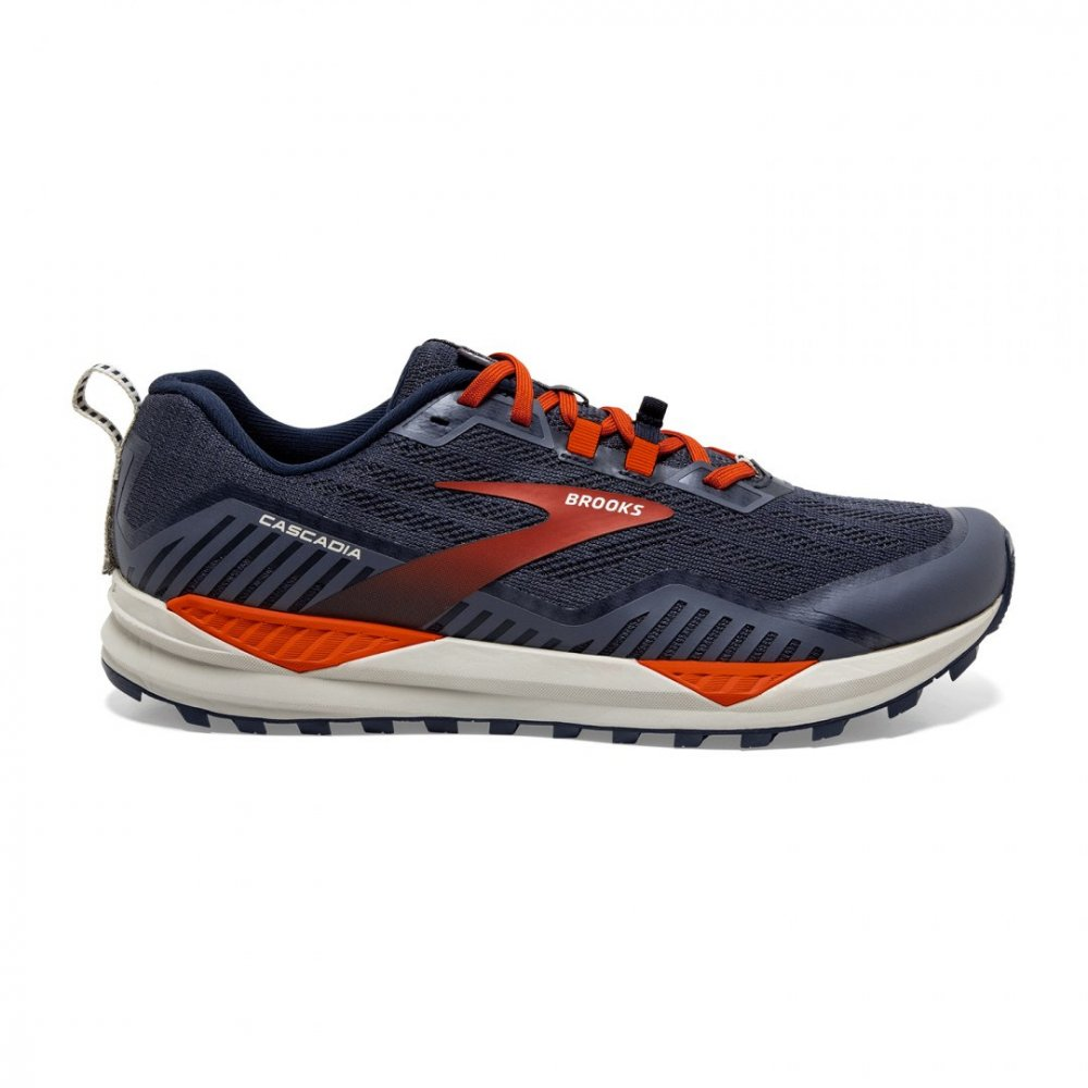 Brooks Cascadia 15 Blue/Red - Velikost Brooks (m): 45 EURO/10 UK/11 US/29 cm