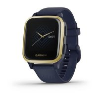 Garmin Venu Sq Music, LightGold/Blue Band