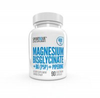 Sportique Magnesium Bisglycinate + B6 + PIPERINE 400 mg
