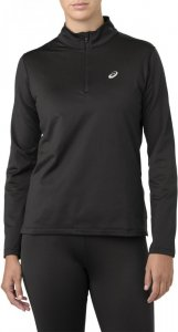 Asics Silver LS 1/2 Zip Winter Top Black W