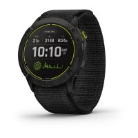 Garmin Enduro, Carbon Gray DLC Titanium/Black UltraFit Nylon Strap