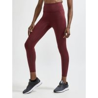 CRAFT ADV Essence High Waist Long Tight Dark Red W