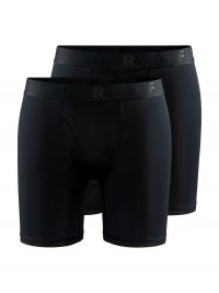 """CRAFT CORE Dry 6"""" 2-pack Boxer Black"""