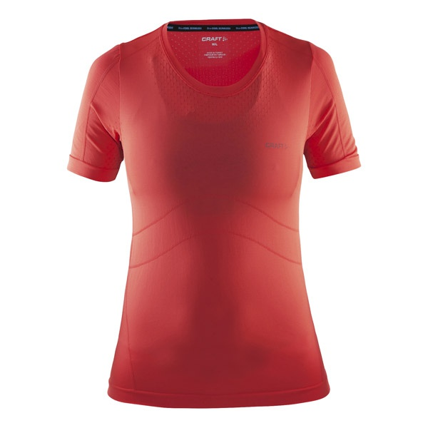 Craft Cool Seamless S/S Tee Red W