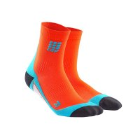 CEP Short Compression Sock orange/blue