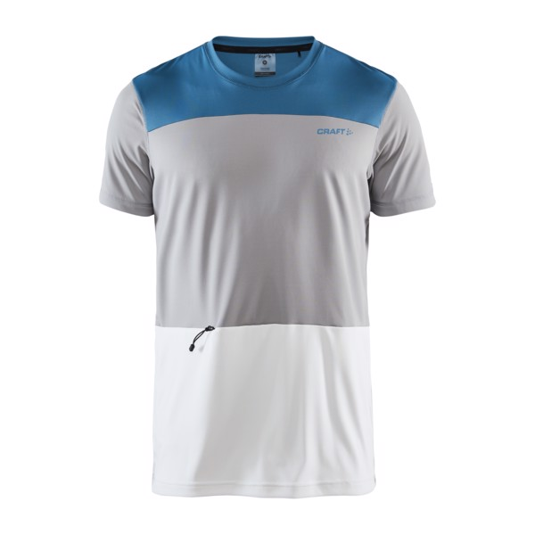 CRAFT Charge Tech SS Tee Grey/Blue - Velikost textil: S