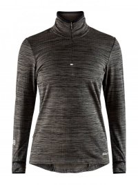 Craft Grid LS Zip Tee Dark Grey W