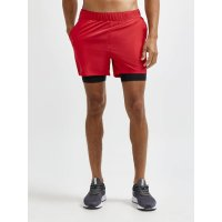 CRAFT ADV Essence 2v1 Shorts Red